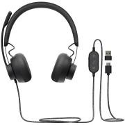 HEADPHONES, LOGITECH Zone, Microphone, Graphite (981-000870)