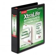 "Xtralife Clearvue Non-Stick Locking Slant-D Binder, 1.5"" Cap, 11 X 8 1/2, Black"