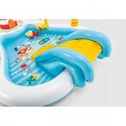 Piscina gonflabila pentru copii cu tobogan pescar Intex