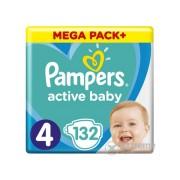 Pampers Active Baby pelenke Megabox Plus, veličina 4 , 132 kom