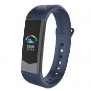 B30 3D UI 0.96 inch Colorful Display Healthy Sleeping Heart Rate Monitor Bluetooth Smart Wristband - Dark Blue