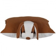 Ultra Folding Pillow Dog 17x13 Inches - Brown