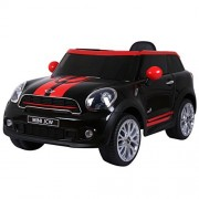 Costzon Kids Ride On Car, Licensed 12V Electric Mini PACEMAN, Remote Control Two Modes Operation, MP3 Lights (Black)