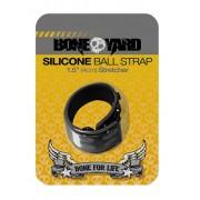 Boneyard Silicone 3 Snap 1.5 Inch Ball Strap Black BY0310