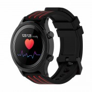 E5 Full-Touch Screen Smart Watch Health Tracker Bluetooth Sports IP68 Waterproof Smart Bracelet - Black / Red