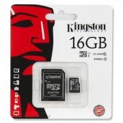 Card de Memorie Kingston microSDHC 16GB C10 + SD Adaptor