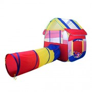 Generic Pop Up Kids Home/Beach/Garden/Camping/Nursery 2 In 1 Play Tent Tunnel Toy