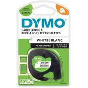 DYMO LetraTag Labeltape 91200 Zwart op Wit 12 mm x 4 m