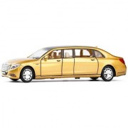 Toy Jumble Golden 132 Die Cast Metal Mercedes Benz Pull Back Car Toy with Light and Sound Effects (Gold)