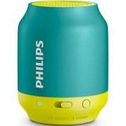 Philips Bluetooth безжична портативна колонка, акумулаторна батерия 2 W, цвят: жълт/зелен, BT25A