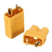 Amass (genuine) 1Pair XT30 2mm Golden Male Female Non-slip Plug Interface Connector