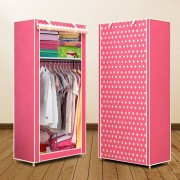 Simple Folded Students Small Wardrobe Combination DIY Assembly Wardrobe Single Clothing Storage Cabinet Dustproof Cloth Closet