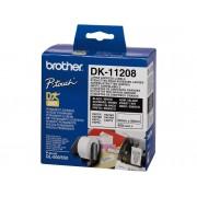 Brother Consumible Original Brother DK11208 Etiquetas precortadas de dirección grandes (papel térmico). 400 etiquetas blancas de 38 x 90 mmpara impresoras...