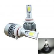 2 PC's C9 9006 18W 1800LM 6000K waterdicht IP68 auto Auto LED koplamp met 2 COB LED-lampen DC 9-36V(White Light)