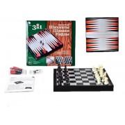 НИ 3в1 Шахматы, шашки, нарды магнитные 3704C