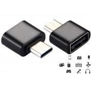 NTR ADAP70B USB Type-C dugó - USB A aljzat OTG adapter - fekete