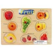 Puzzled Peg Puzzle Large - Fruit Wooden Toys
