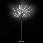 vidaXL LED коледно дърво за закрито и открито, IP44 250 см, бяло