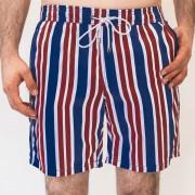 Mr.Swim Wide Stripe Shorts Swimwear Burgundy MR-201-2