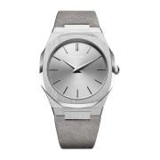 【54%OFF】ウルトラシン スエードベルト 腕時計 フェイス:シルバー ベゼル:シルバー ベルト:ライトグレー ファッション > 腕時計~~メンズ 腕時計