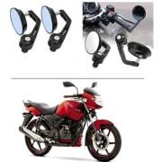 AutoStark 7/8 22cm Motorcycle Rear View Mirrors Handlebar Bar End Mirrors - TVS Apache