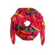Florian hedvábný šál s potiskem růžová
