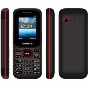 HEEMAX P310 (Dual Sim 1.8 Inch Display 1000 Mah Battery 1 YEAR WARRANTY Made In India ) BLACK RED