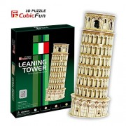 Lelifang Kids Toys C706H Italy Leaning Tower Of Pisa 3D Puzzle Paper Model