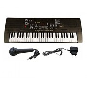 54 Key Electronic Keyboard Piano with Microphone and LED Display (Black)