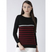 Club York women's round neck full sleeve striper sweater