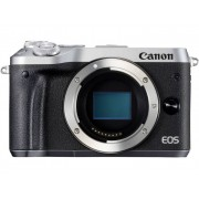 Systeemcamera Canon EOS M6 Behuizing (body) 24.2 Mpix Zilver WiFi, Bluetooth, Full-HD video-opname