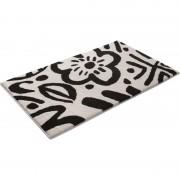 Esprit Tapis de bain Esprit Cool Flower noir et blanc