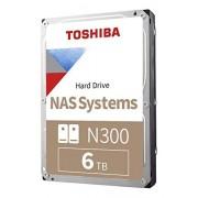 """Toshiba HDWN160XZSTA Disco Duro para NAS N300 6TB 3.5"""" RAID 1-8 Bahías, SATA III Cache 128MB 7200 RPM, 6 TB"""