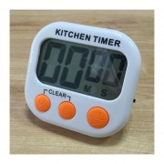 Digital Cocina Temporizador Alarma Electronica Respaldo Magnético Con Display LCD Para Cocinar, Hornear Juegos Deportivos Office (naranja)