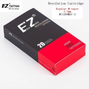 RC1209M1C-2 EZ Revolution Tattoo Needles Cartridge Curved /Round Magnum(CM/RM) #12(0.35mm) for machines and grips 20 pcs /box