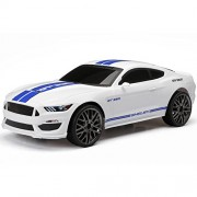 New Bright SHELBY MUSTANG GT 350 (White) Full Function R/C Vehicle Chargers - Includes USB for Charging - All Batteries Included 1:15 Scale