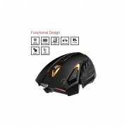 GAMDIAS Zeus ESport Laser Gaming Mouse With 8200 DPI, Unique Side Grip Calibration & 9 Programmable Buttons(GMS1100)