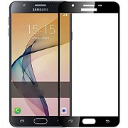 Samsung J7 Prime Flagship Tuff And Super Clear 3D Tempered Glass screen protector ( Colour - Black )