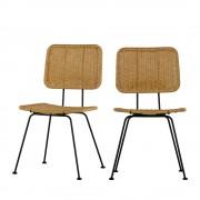 Woood Hilde - 2 chaises indoor/outdoor - Couleur - Naturel