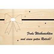 Die Laserei Holzgrusskarte - Weihnachten - Frohe Weihnachten und einen guten Rutsch! Masc...