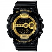 reloj de pulsera digital genuino casio g-shock GD-100GB-1ER para hombre-negro
