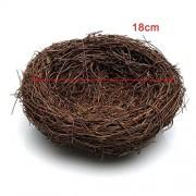 ELECTROPRIME® 18cm Rattan Vine Bird Nest Feeder Bird House Creative Gift Present Kid Toys