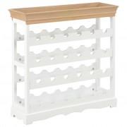 vidaXL Шкаф за вино, бял, 70x22,5x70,5 см, МДФ