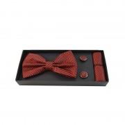 Accesorii elegante pentru barbati rosu cu negru