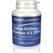 Simply Supplements Calcio 500mg Vitamina D3 200iu - 360 Comprimidos
