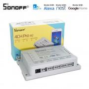 Sonoff 4CH R2 PRO - releu Smart cu control Wi-Fi si RF pentru 4 canale