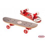 Mini Skateboard Rosu 43 cm