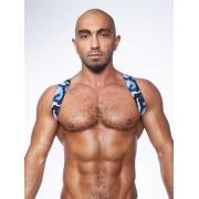 Mister B Urban Camo Sling Back Club Harness Blue 820551