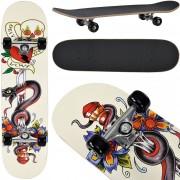 [pro.tec]® Monopatín Skateboard para el cruising en la ciudad y el parque - 79 x 20,5 x 13,5 cm - Retro Board (serpiente)