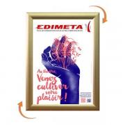 Edimeta Cadre Clic-Clac A4 DORE / GOLD